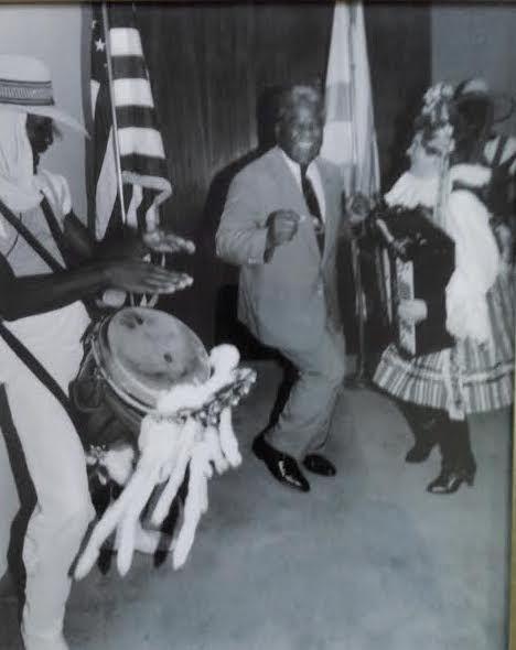 Vlasta Krsek dancing the polka with Mayor Harold Washington.