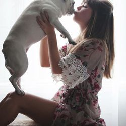 """<b>Jenny Bernheim</b> of <a href=""""http://margoandme.com/""""target=""""_blank"""">Margo & Me</a> on her four-year-old French bulldog, Margo: """"Margo has habit of what I refer to as 'rocking out'—she sits on her bum with her paws straight out in front of her a"""