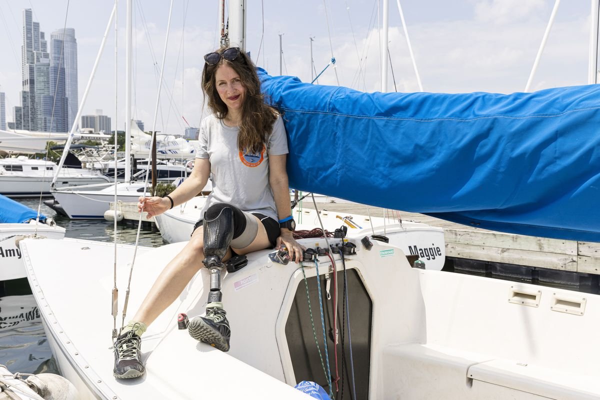 Bridget Bodo found sailing a saving grace after she lost her leg in a motorcycle accident in Lake View.