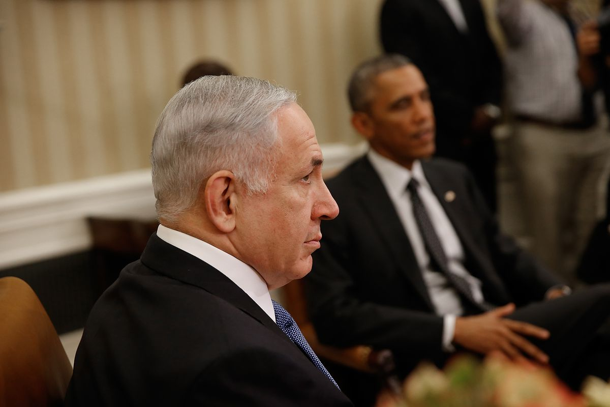 Netanyahu and Obama.