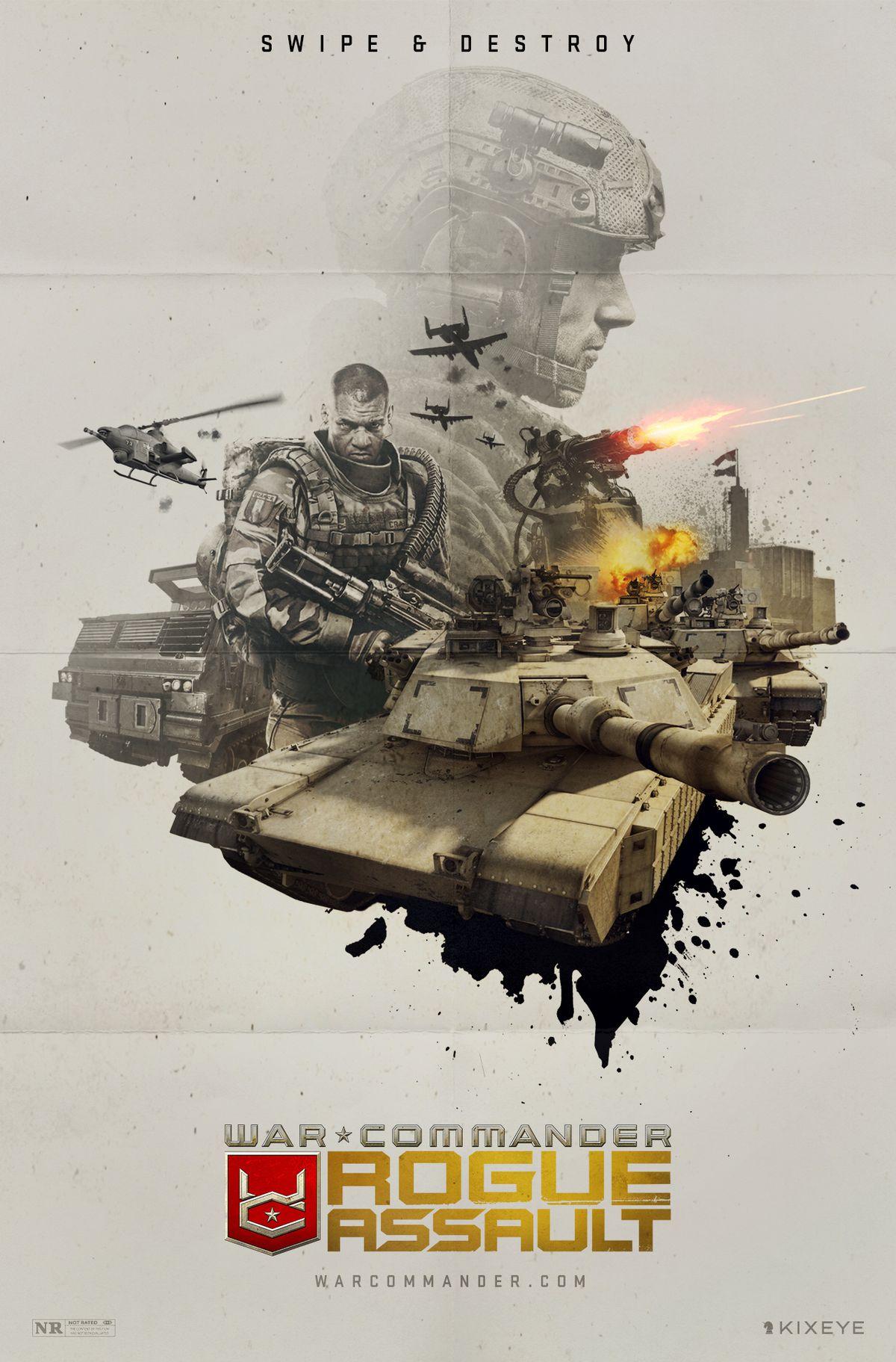 A movie poster treatment for War Commander: Rogue Assault