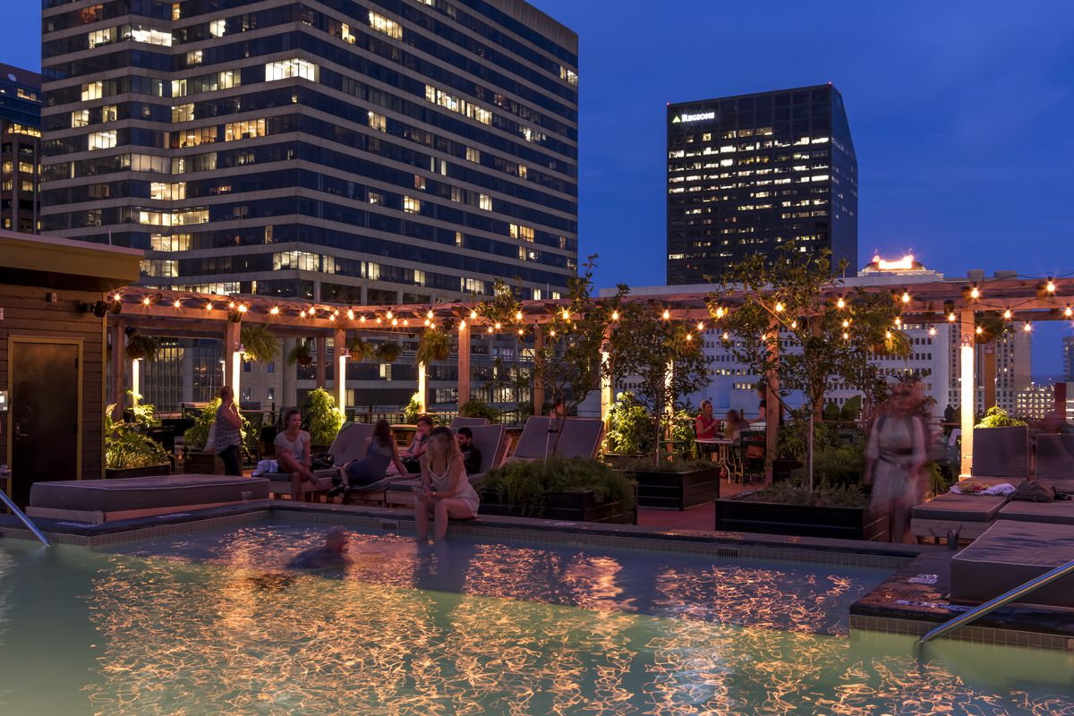 The rooftop pool at the Ace Hotel, a great way to beat the heat.