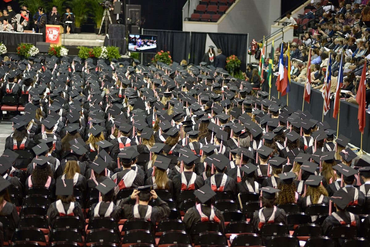 Students at the Berklee College of Music commencement in May. The University of Iowa believes it is the first to livestream commencement ceremonies in China with Chinese commentary.