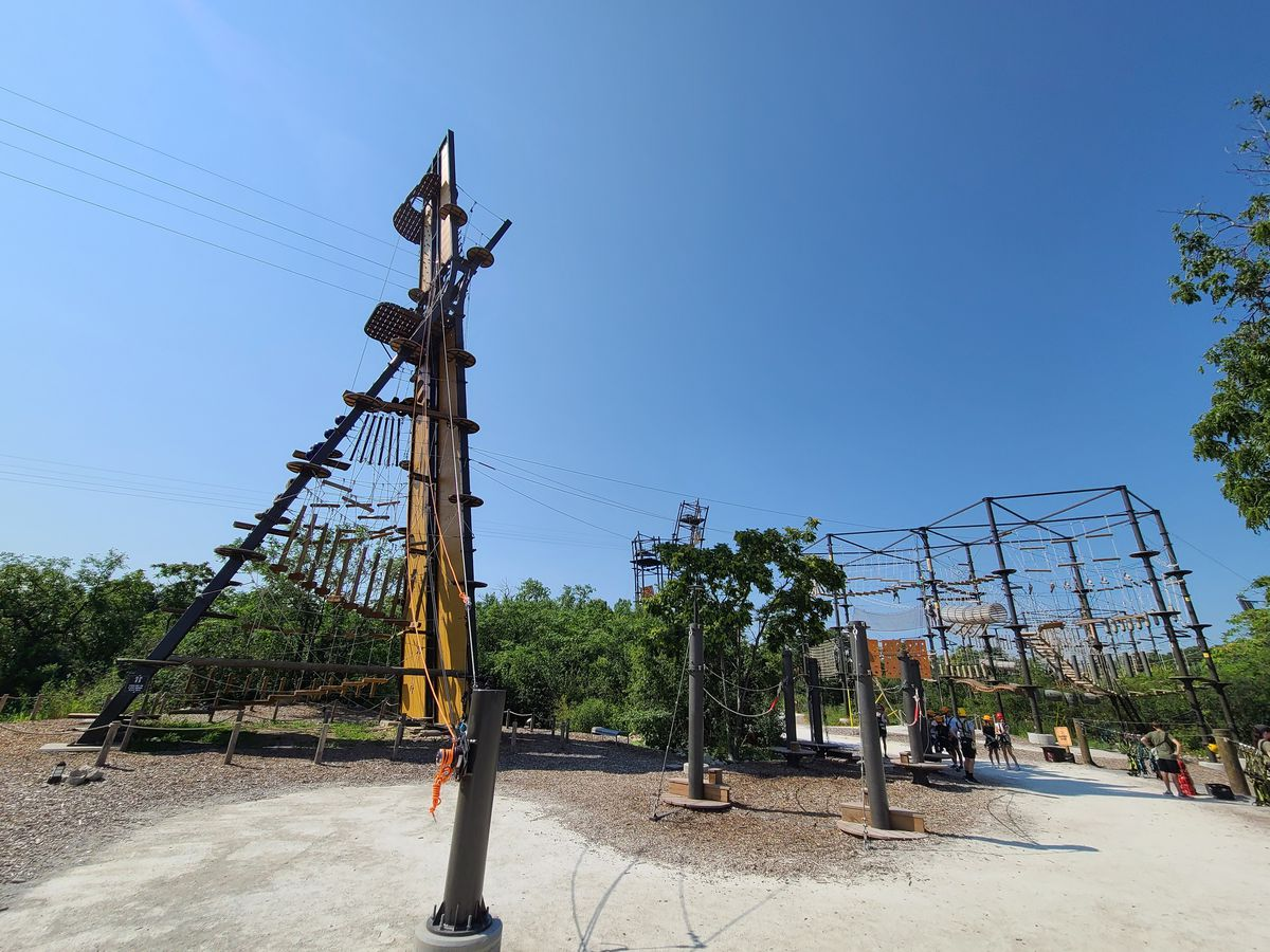 The Forge outdoor adventure park features an eight tower high ropes course, zip lining, paddlesports and more, which guests participated in on Monday, July 26 at 1001 Main Street, Lemont, Illinois.