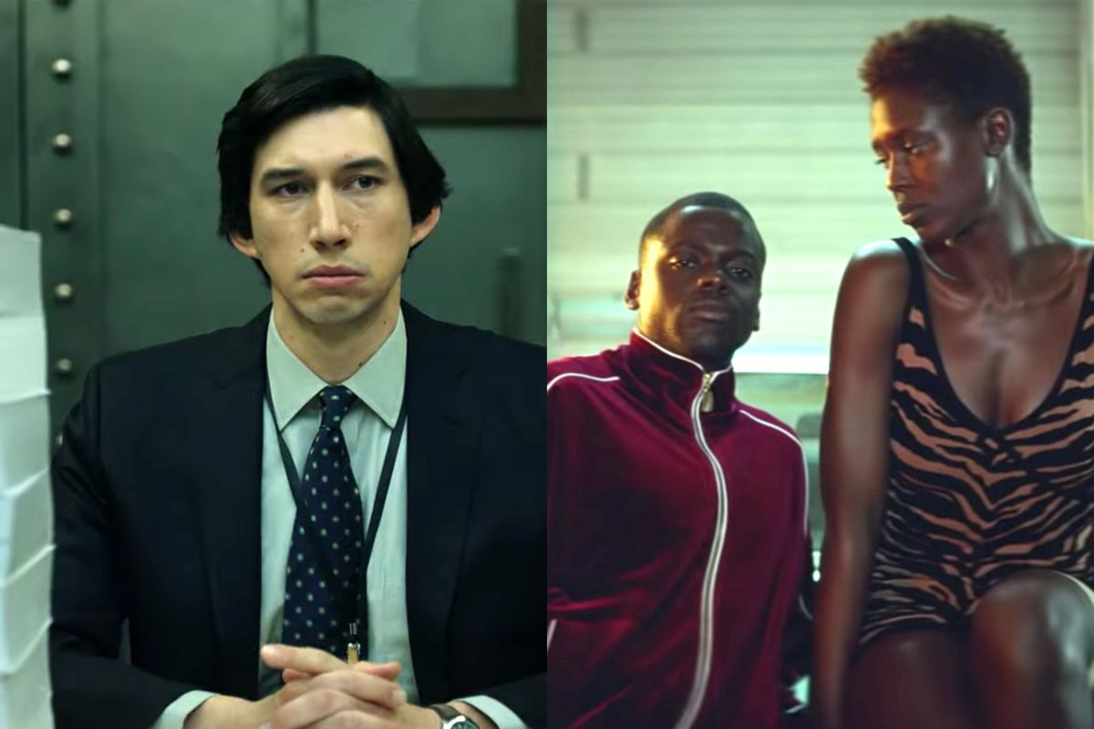 Adam Driver in The Report and Daniel Kaluuya and Jodie Turner-Smith in Queen & Slim.