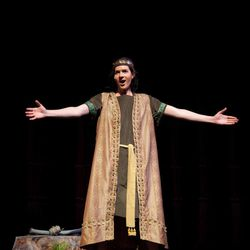 """Chase Petersen as Nephi in the 2011 production of """"Nephi and the Sword of Laban."""" This summer, """"Nephi and the Sword of Laban"""" will run in Salt Lake City as an alternative to """"The Book of Mormon"""" Broadway musical."""