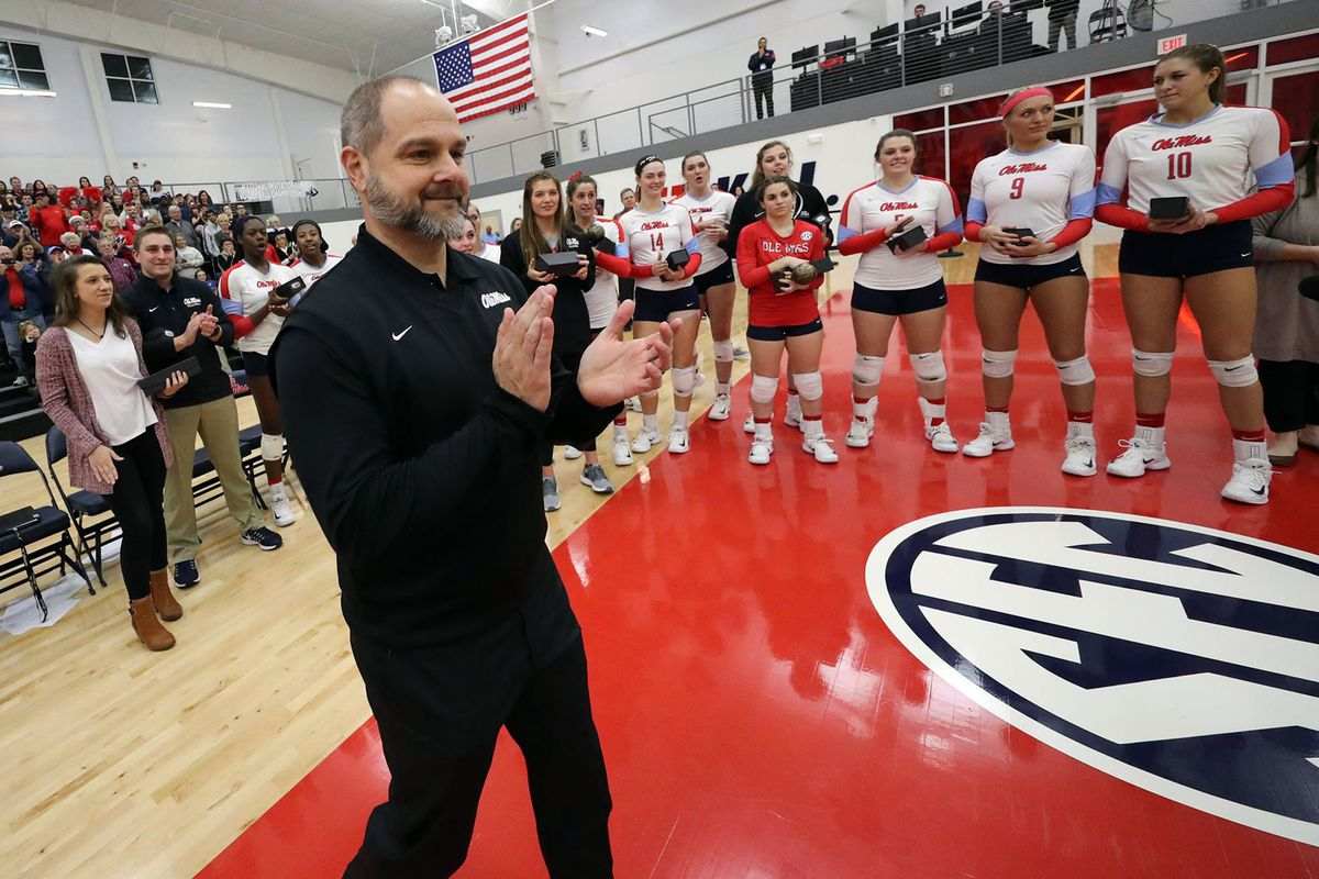 Steven Mcroberts Gets His 100th Win As Ole Miss Volleyball Defeats Tulane Red Cup Rebellion