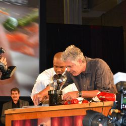Anthony Bourdain and his sous chef Rock Harper