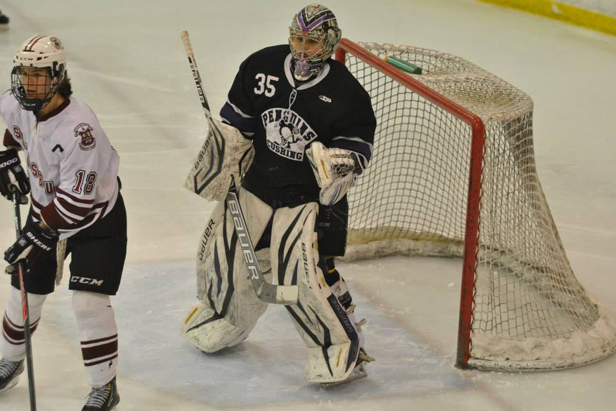 Cushing goaltender and Arizona State commit leads the No. 2 Penguins into the Elite 8.
