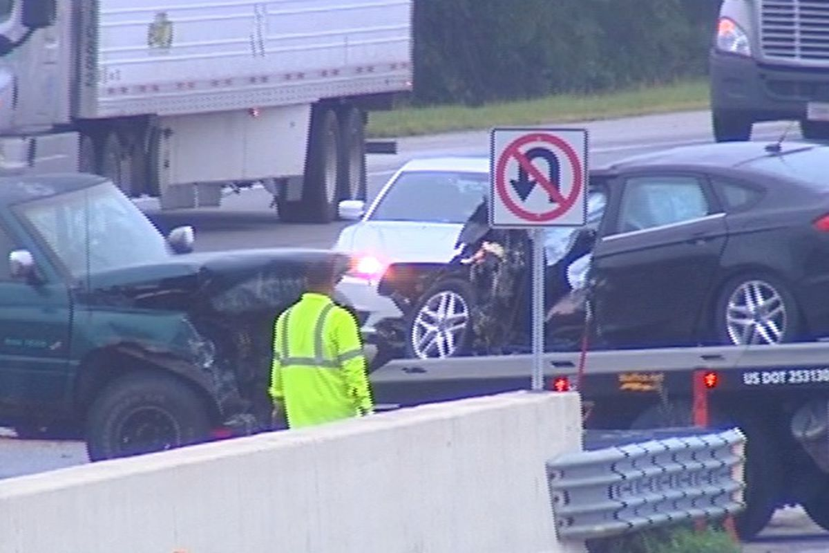 Westbound Indiana Toll Road remains closed after 3-car crash