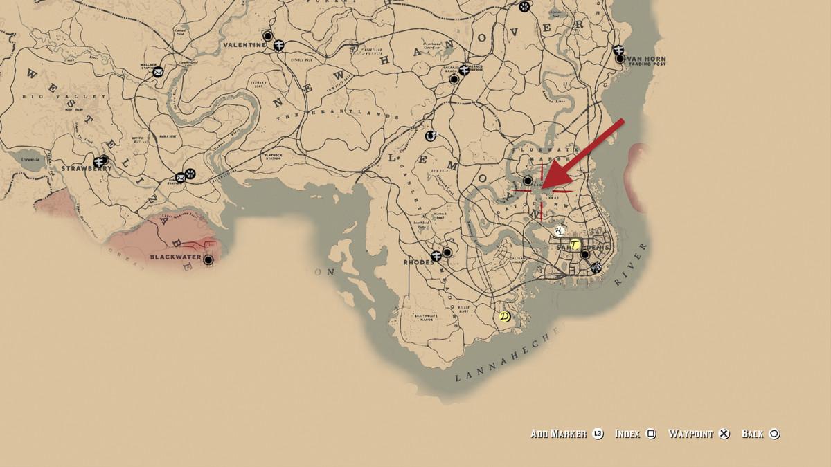Red Dead Redemption 2Legendary Longnose Gar location