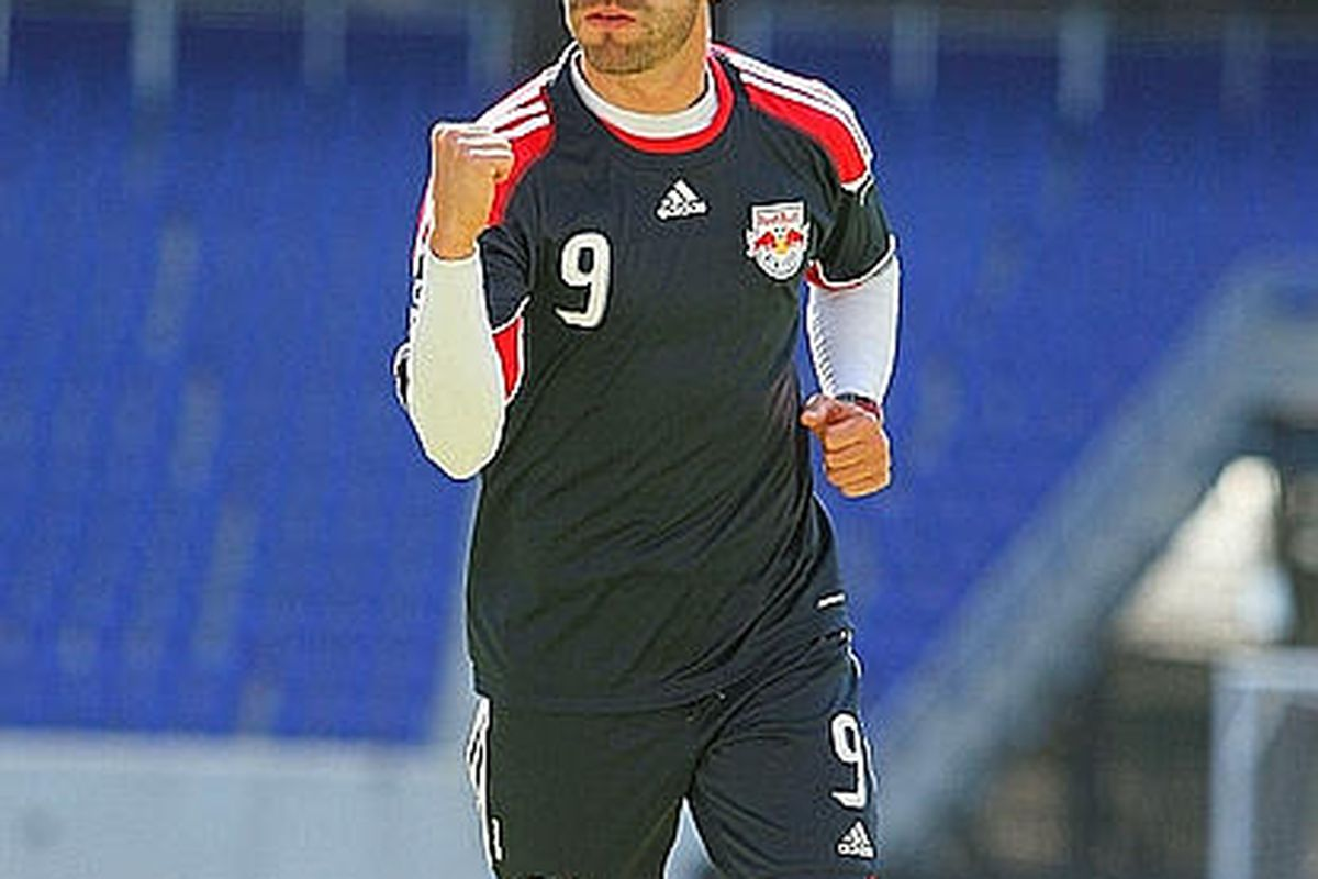 Will Angel suit up for the Red Bulls when Chicago comes to town?  Photo courtesy of Getty Images.