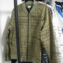 """The perfect printed jacket in military green from <a href=""""hydenyoo.com"""">Hyden Yoo</a>."""