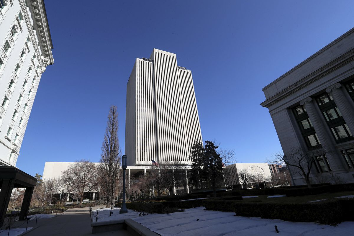 FILE — The Church of Jesus Christ of Latter-day Saints' Church Office Building in Salt Lake City is pictured on Wednesday, Feb. 19, 2020.