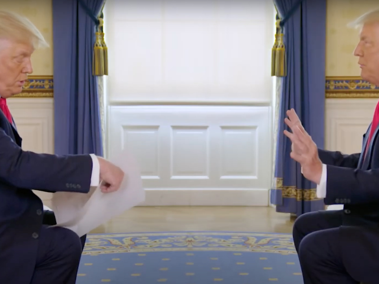 Trump Debates Himself In This Absolutely Perfect Interview Edit