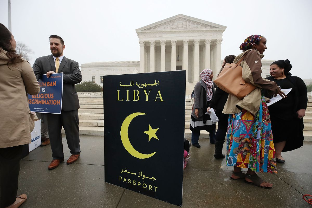 """The Supreme Court heard oral arguments in a lawsuit over President Trump's """"travel ban,"""" the third version of a policy (first implemented by executive order) that stops people from several majority-Muslim countries from entering the US."""