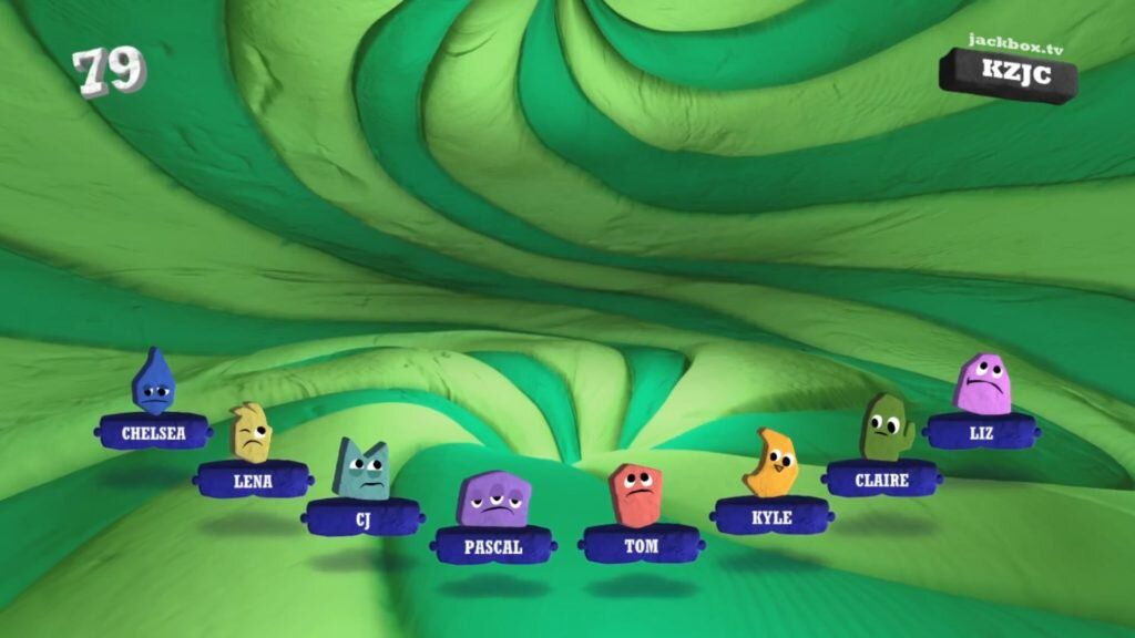 Players compete in a Jackbox Party Pack 7 game