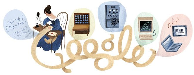 Google ran this Google Doodle on December 10, 2012, to mark what would have been Ada Lovelace's 197th birthday.