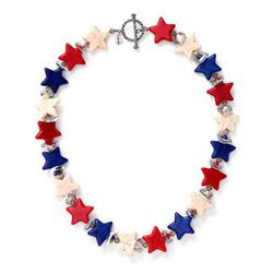 """<b>Shebee</b> All Star Necklace Americana, <a href=""""http://shebee.com/collections/classic/the-all-star-necklace-americana.html"""">$350</a> at Kirna Zabete"""