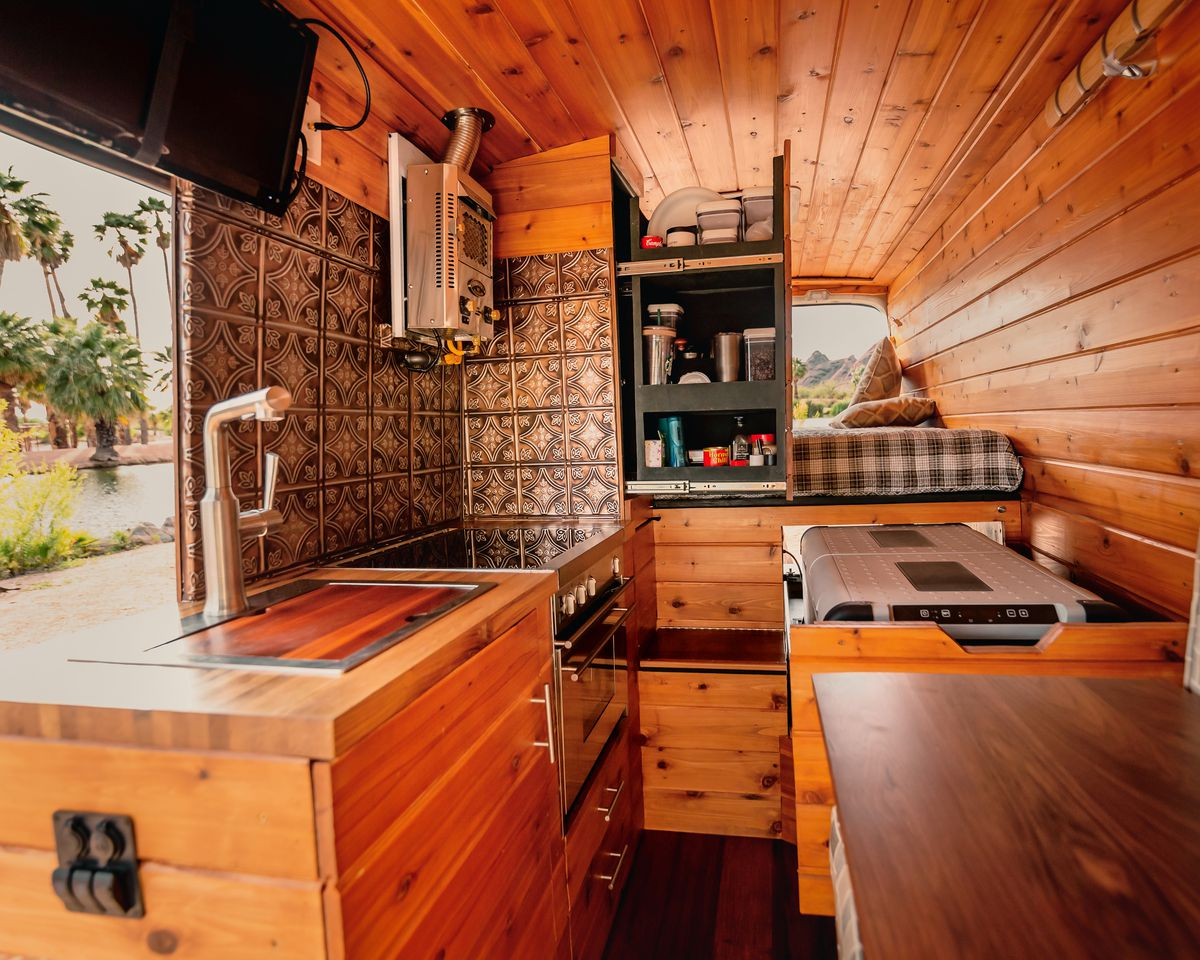 Inside the Custom Ford Camper