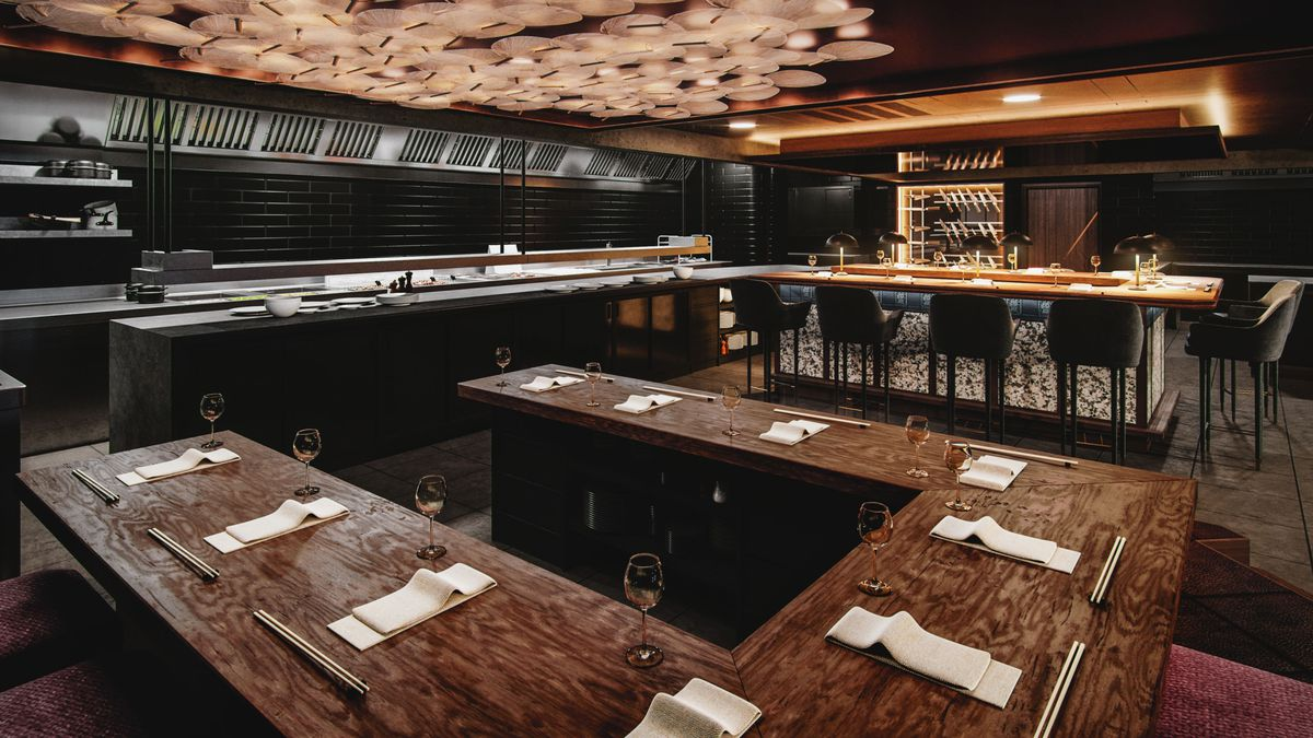 The open kitchen and dining room at Lucky Cat, which opens in Mayfair in June 2019