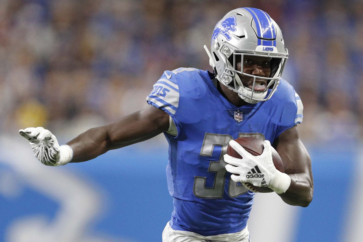 Lions' Kerryon Johnson had an outstanding night against the ...