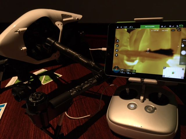 The DJI Zenmuse XT thermal drone lens will ship in early 2016.