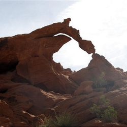 Natural Arch at Valley of Fire State Park near Las Vegas, as seen on April 4, prior to its recent collapse.