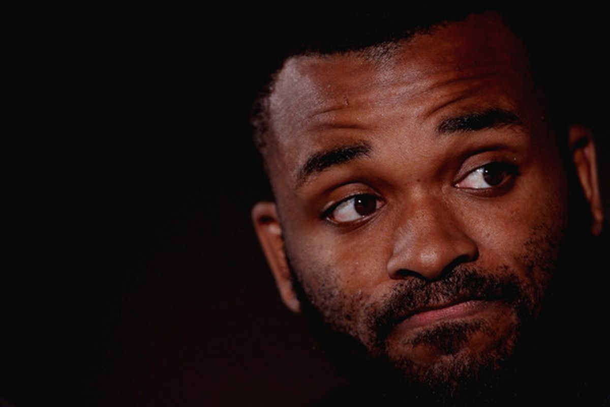 BIRMINGHAM ENGLAND - JANUARY 18:  The disembodied head of Darren Bent laments his missing body in the dark.