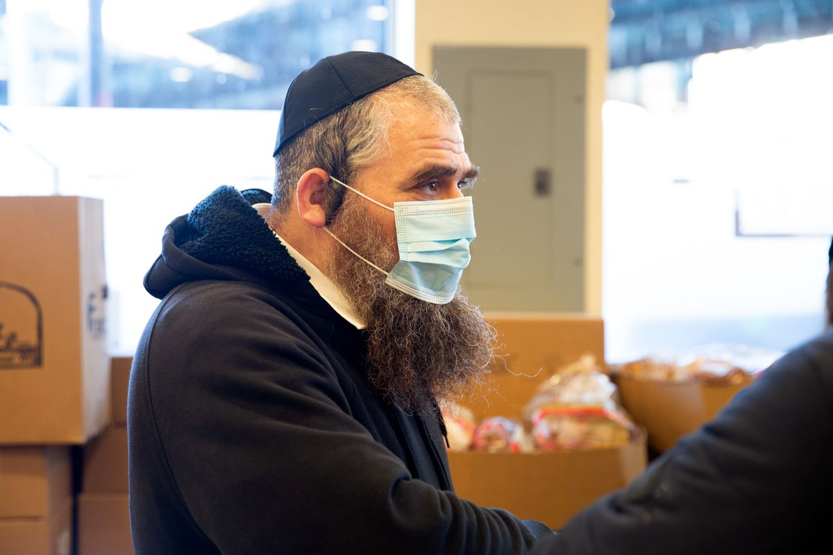 Shimon Posen has been rescuing food for more than 25 years and delivering it to pantries like Masbia in Borough Park.