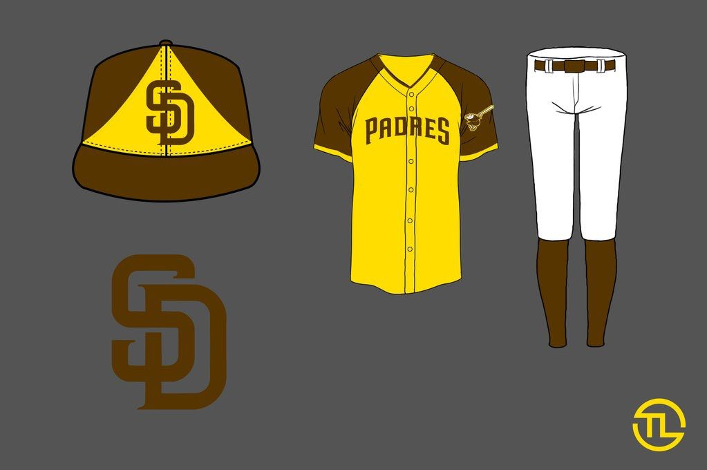 Padres redesign friar friday gold brown jersey
