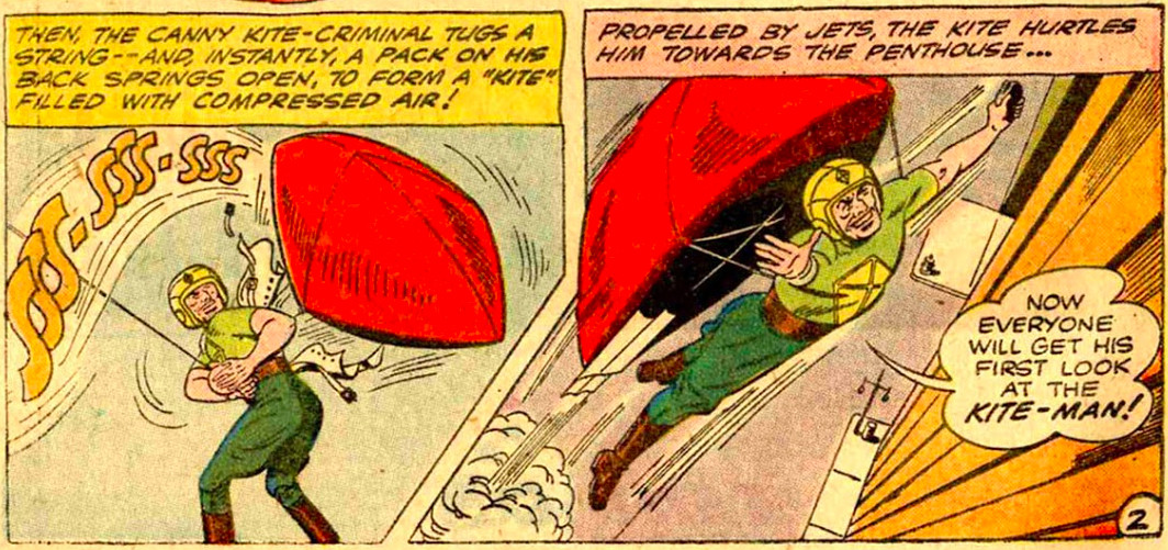 From Batman #133, the first appearance of Kite Man, DC Comics (1960).