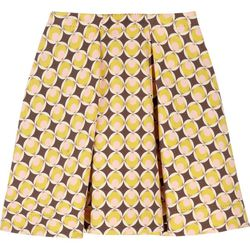 """<a href=""""http://www.theoutnet.com/product/166177"""">Moschino Printed wool-blend mini skirt</a>, $211.50 (was $1,410)"""
