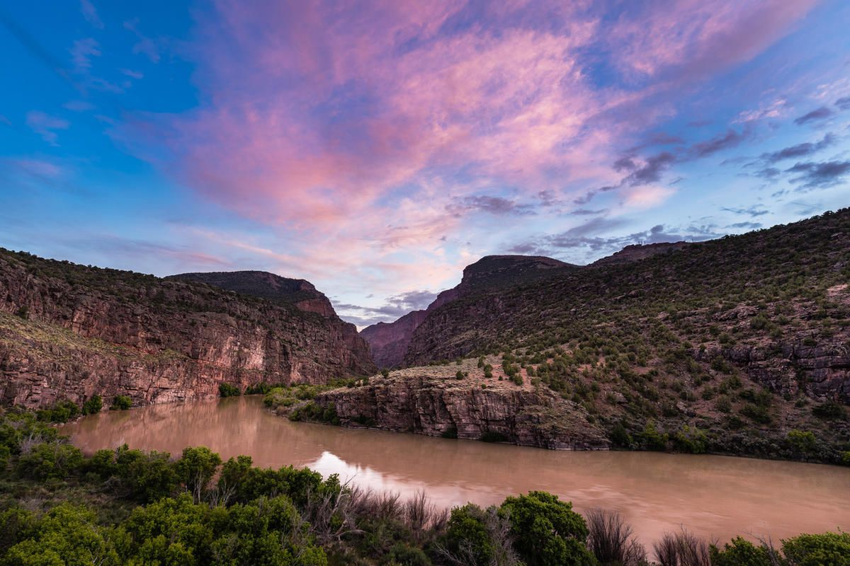 FILE - The Green River flows through Gates of Lodore in Dinosaur National Monument, May 2017. A proposal by the Bureau of Land Management to offer oil and gas leases next to Dinosaur National Monument is raising objections by the National Park Service and