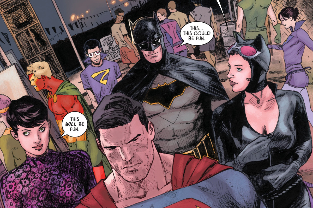 Batman and Superman's costume-swap double date is the best