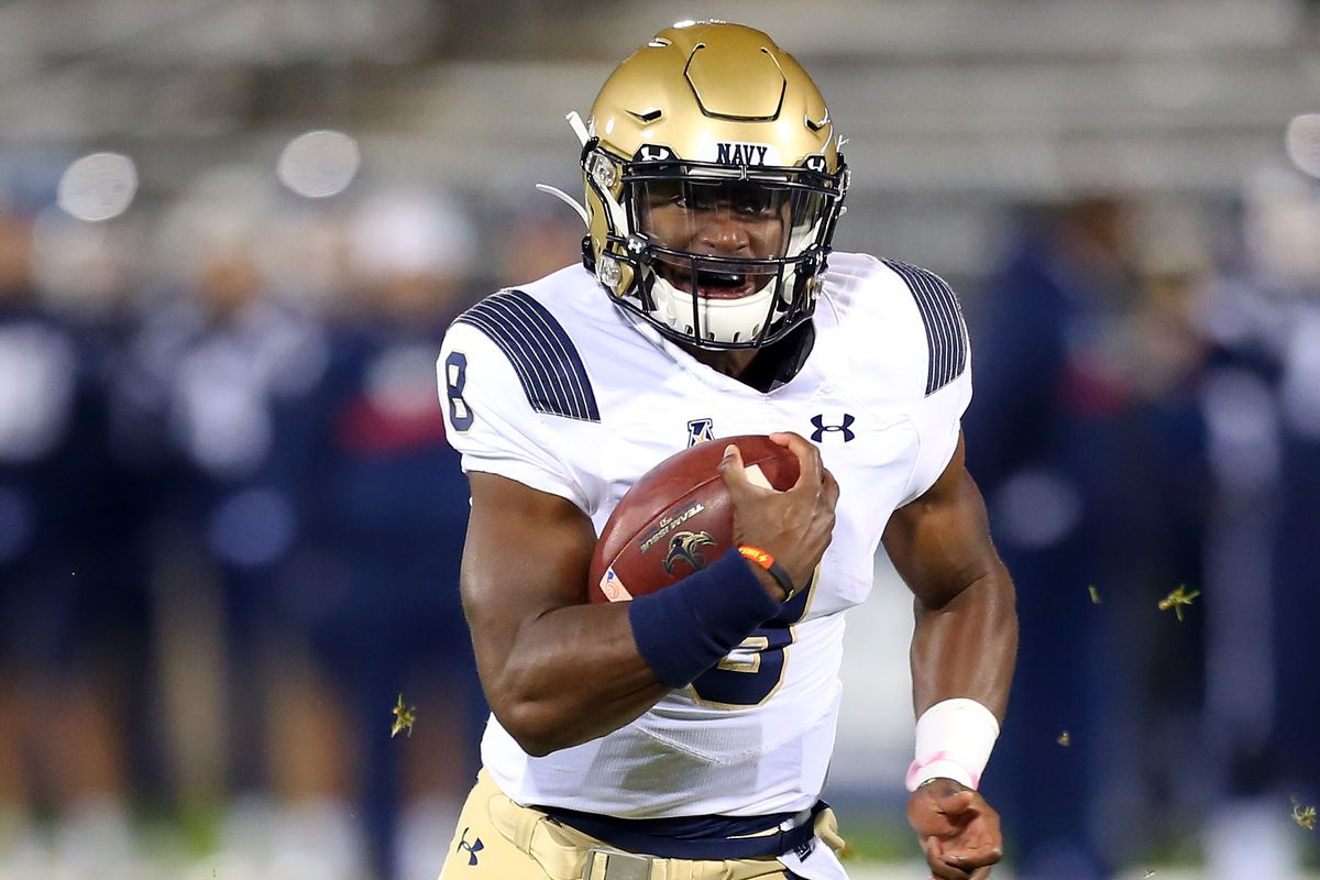 College Football Dalen Morris Now No 1 On Navy S Qb Depth Chart Against All Enemies