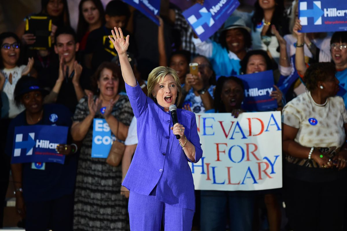 Hillary Clinton at a rally in Nevada in October 2015.