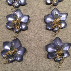 Flower pins, $150