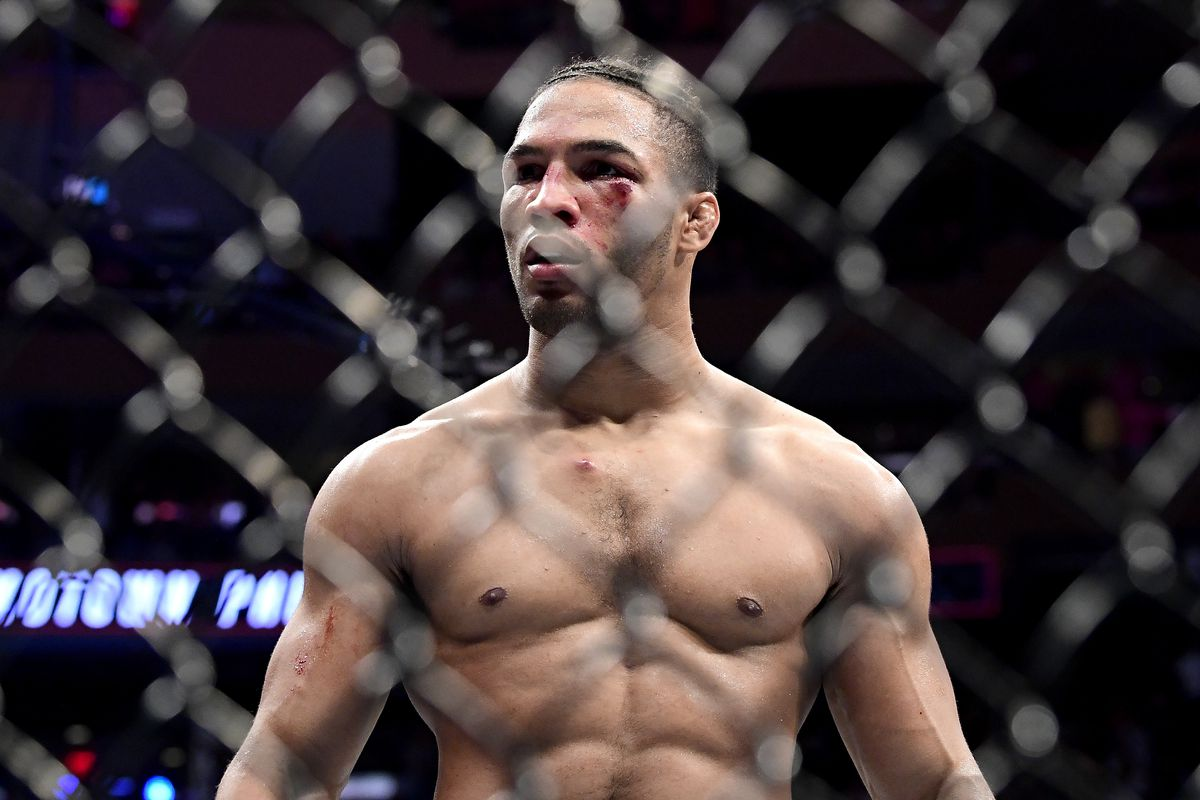 Kevin Lee after his fight with Gregor Gillespie at UFC 244.