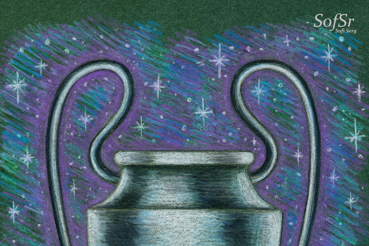 The Champions League trophy. Drawing by Sofi Serg.