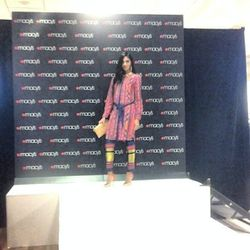 "A runway look by Rachel Roy at Macy's, photo via <a href=""http://instagram.com/adleajeh"">@adleajeh</a>"