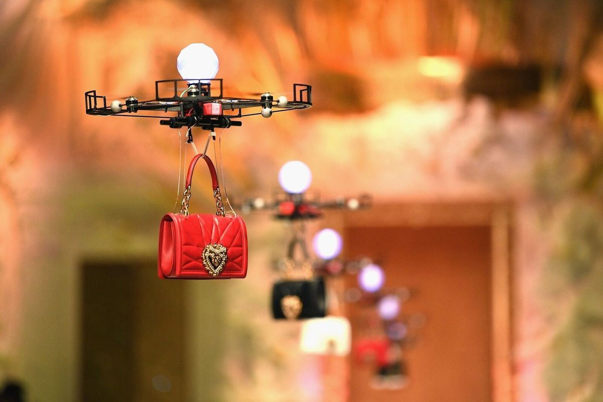 Image result for dolce & gabbana show with drones in milano
