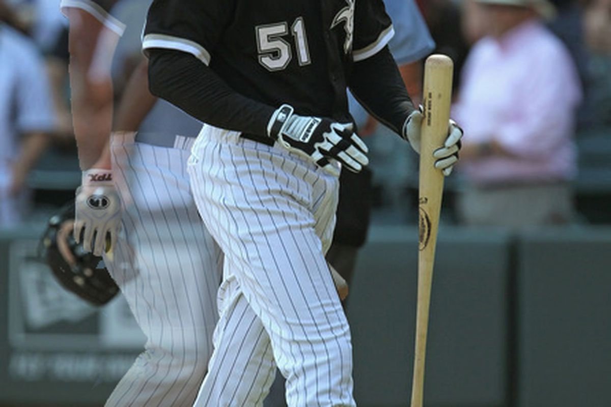 Alex Rios struck out in a key ninth-inning at-bat just minutes after Adam Dunn did the same.