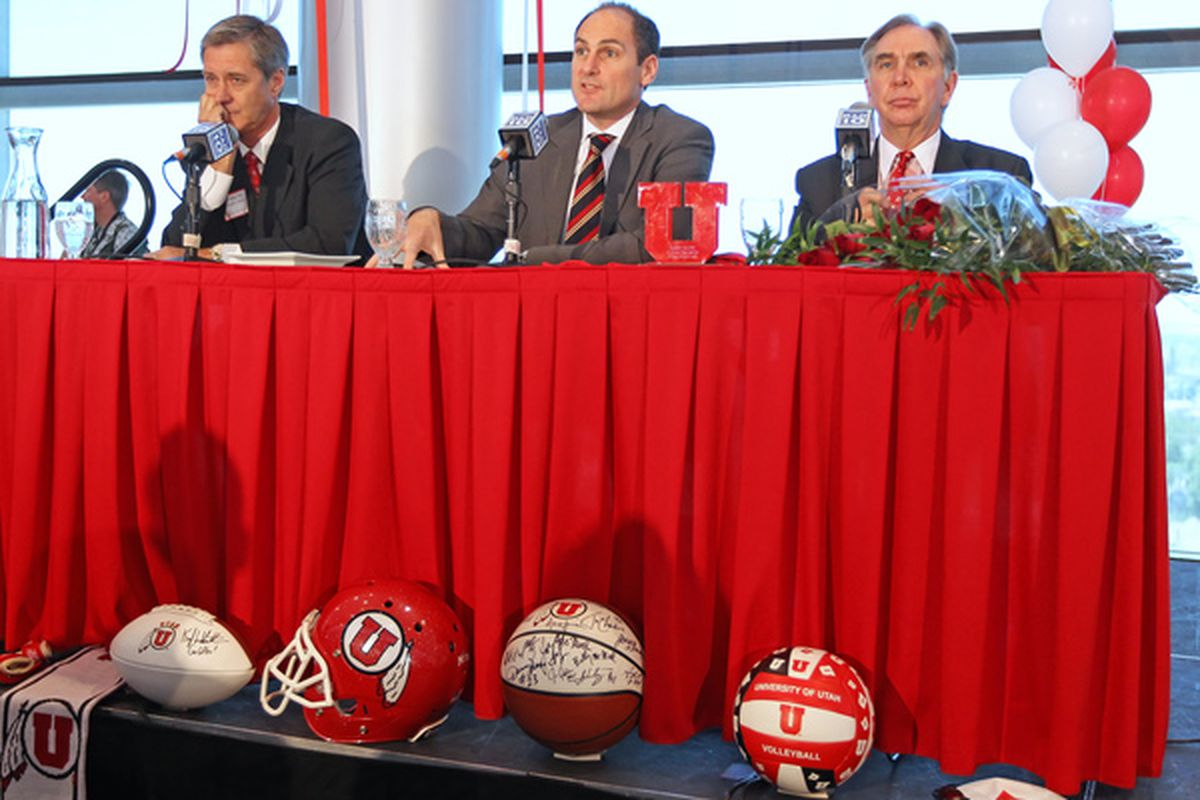 """<em>Pac-10 commissioner Larry Scott admits he didn't give the conference members """"chance to express all the considerations they have"""" before adding Utah (and Colorado).</em>"""