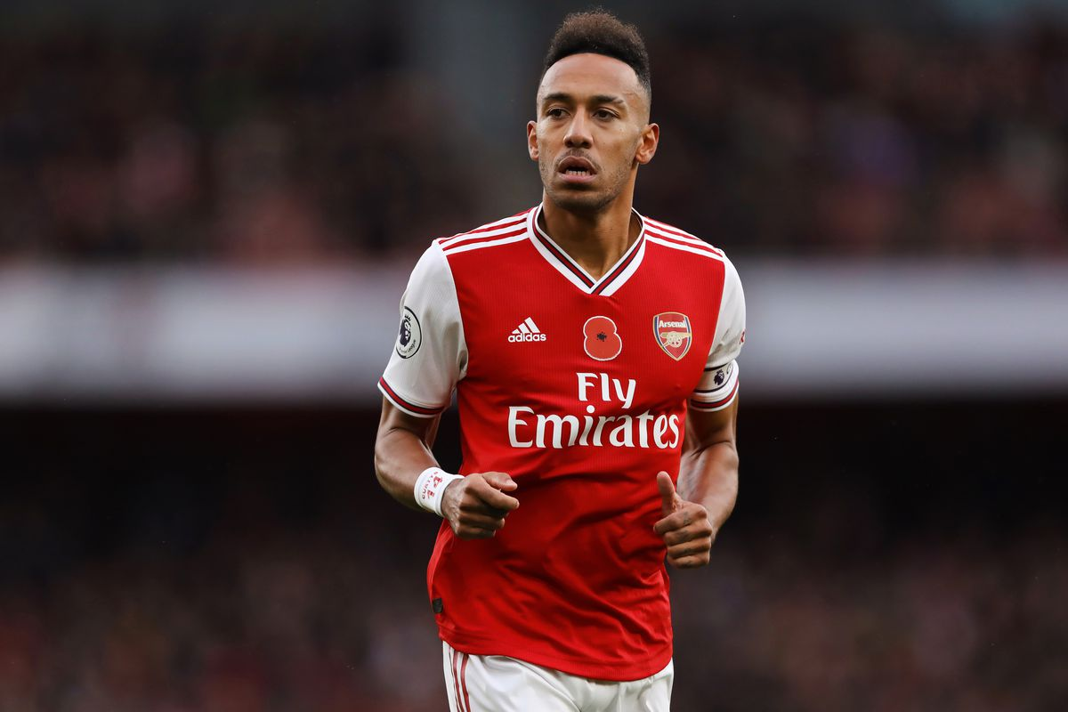 Pierre-Emerick Aubameyang of Arsenal seen in action during...