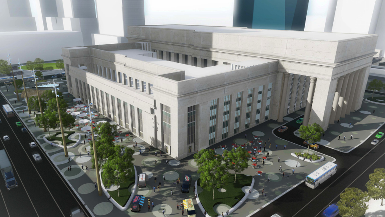 Station Plaza At 30th Street Station What To Expect At The Future Civic Space Curbed Philly