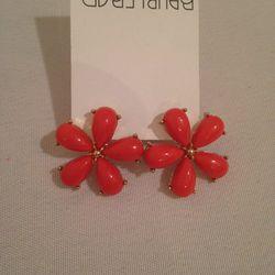 Plastic flower earrings, $10