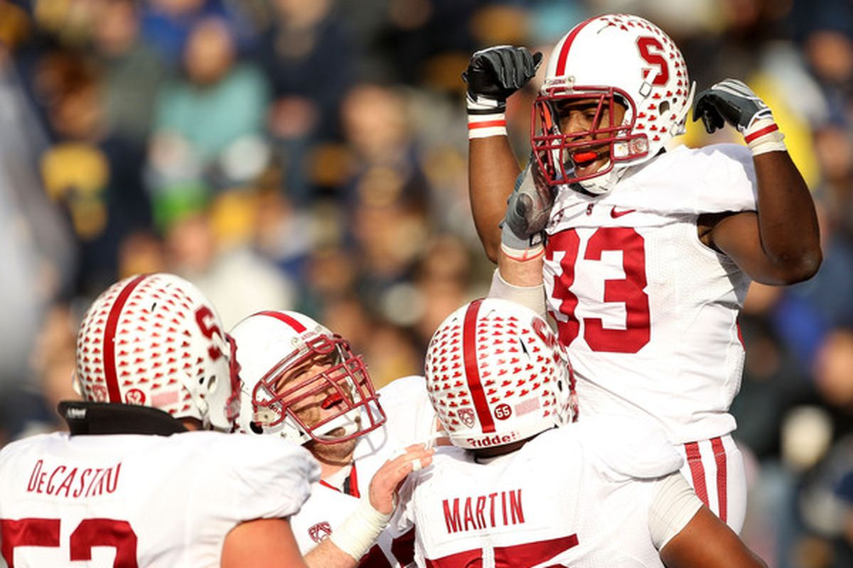 Stepfan Taylor and the Cardinal kept their BCS bowl hopes alive with a 48-14 win at Cal on Saturday.
