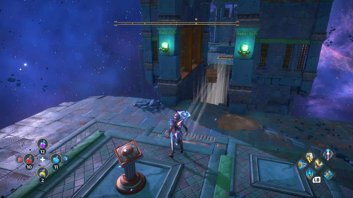 A puzzle solution for the Aiolos's Spheres Vault of Tartaros in Immortals Fenyx Rising