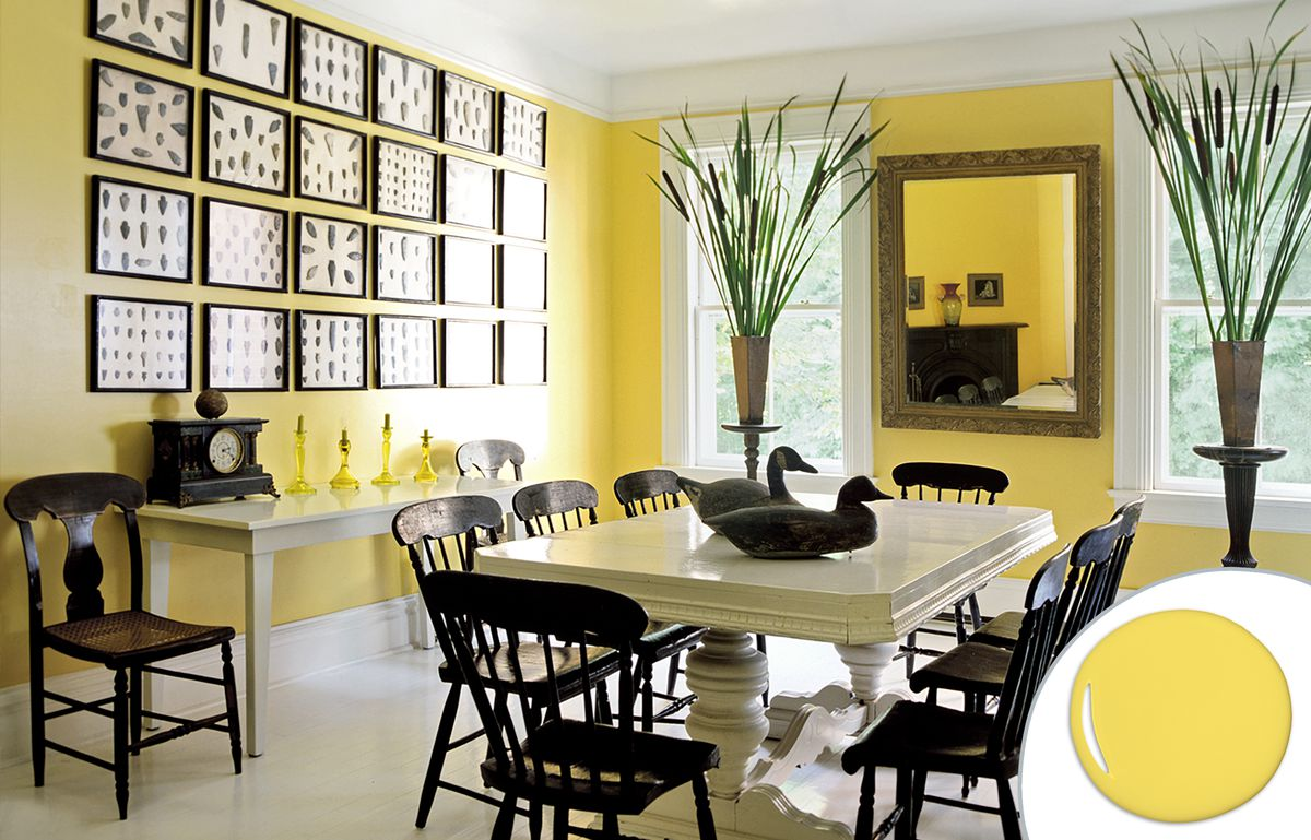 Citrus Yellow Dining Room Paint Color